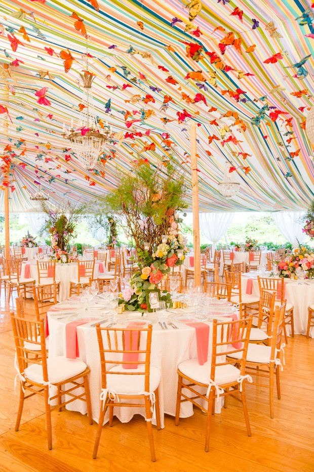 rainbow wedding tent by Sperry Tents