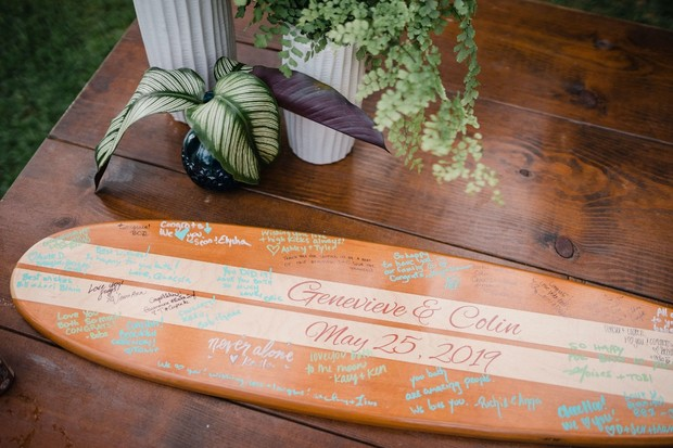 guest book surf board