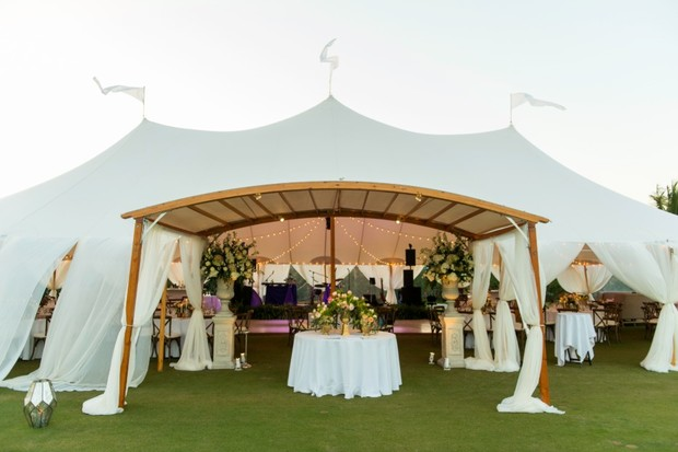 wedding arch entry by Sperry Tents