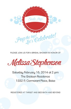 Soda Pop Free Printable Wedding Invites