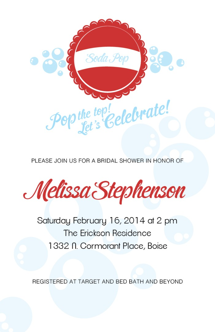 Print: Soda Pop Free Printable Wedding Invites