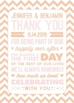 Poster Style Free Printable Wedding Thank You Card
