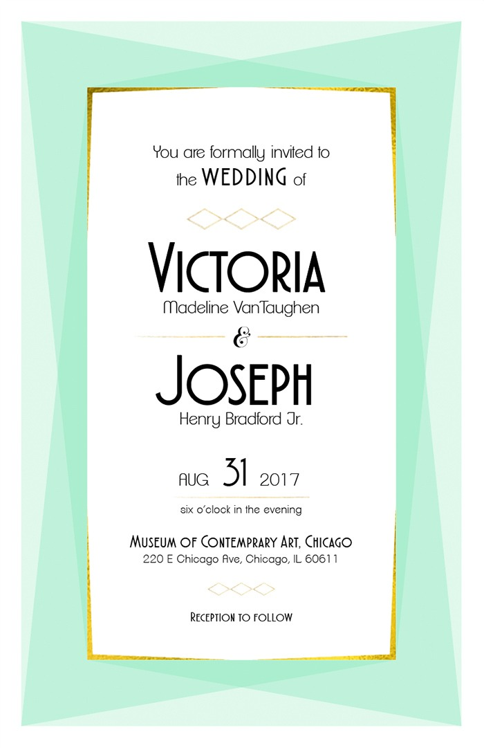 Print: Modern Geometric Free Printable Wedding Invite