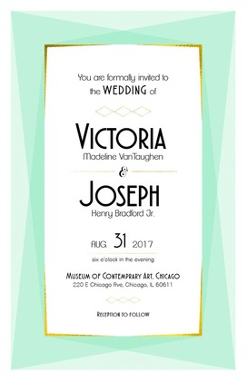 Modern Geometric Free Printable Wedding Invite