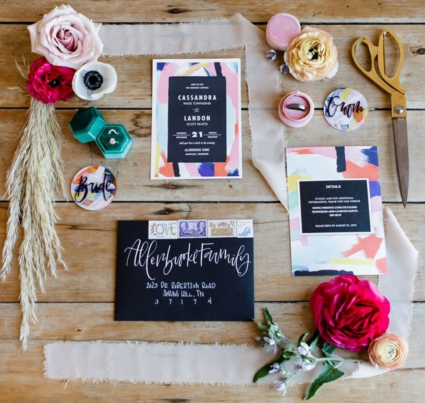 fun and funky wedding invitations