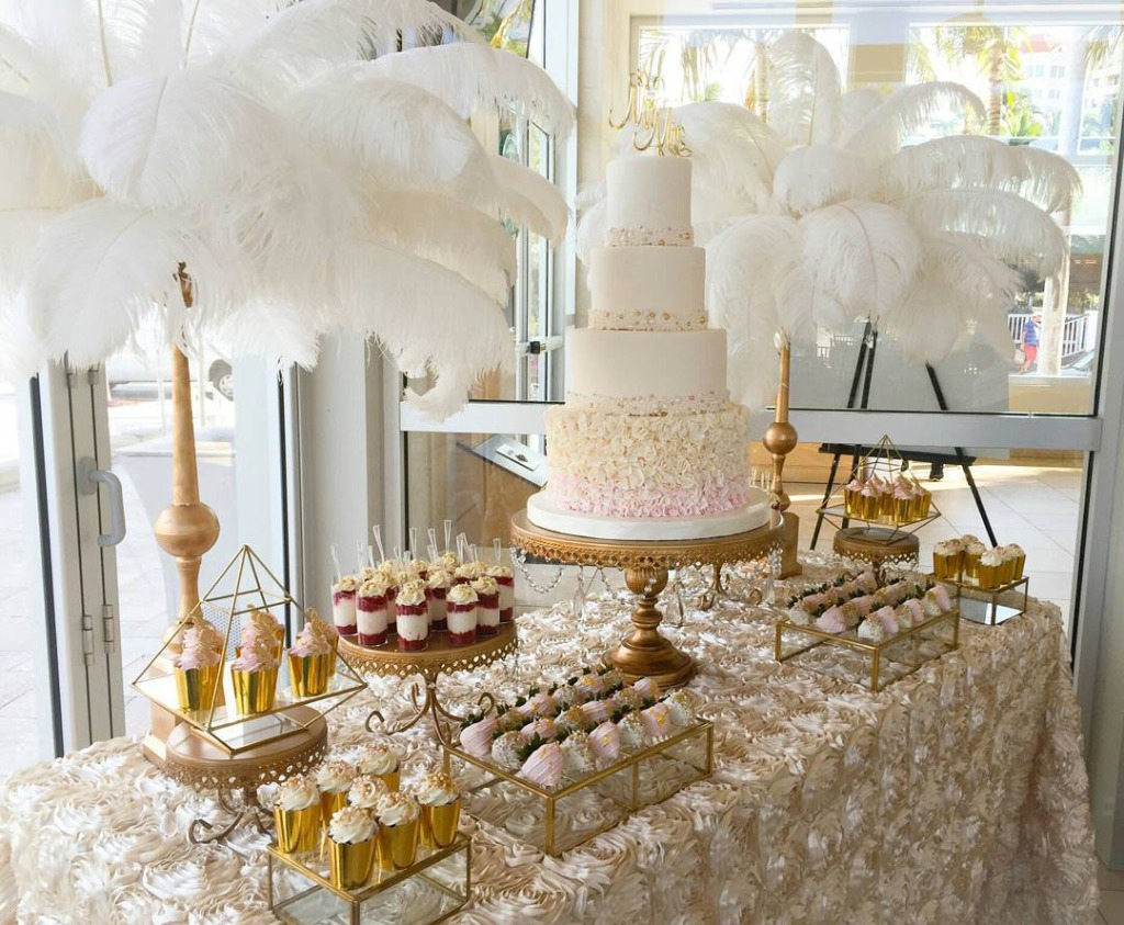 Gold Wedding Cake Stands! Opulent Treasures has an affordable collection of cake and dessert stands to create your dream wedding cake