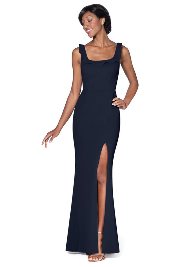 Azazie Navy Samantha dress