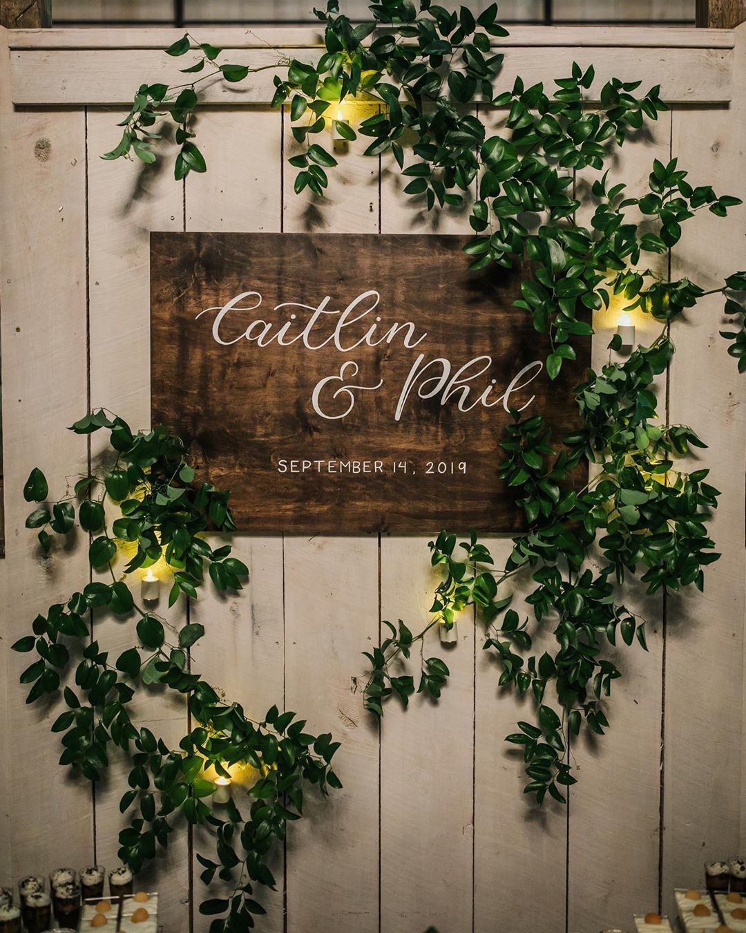 Caitlin & Philip has such a beautiful wedding! Here are a few details from the reception planned by