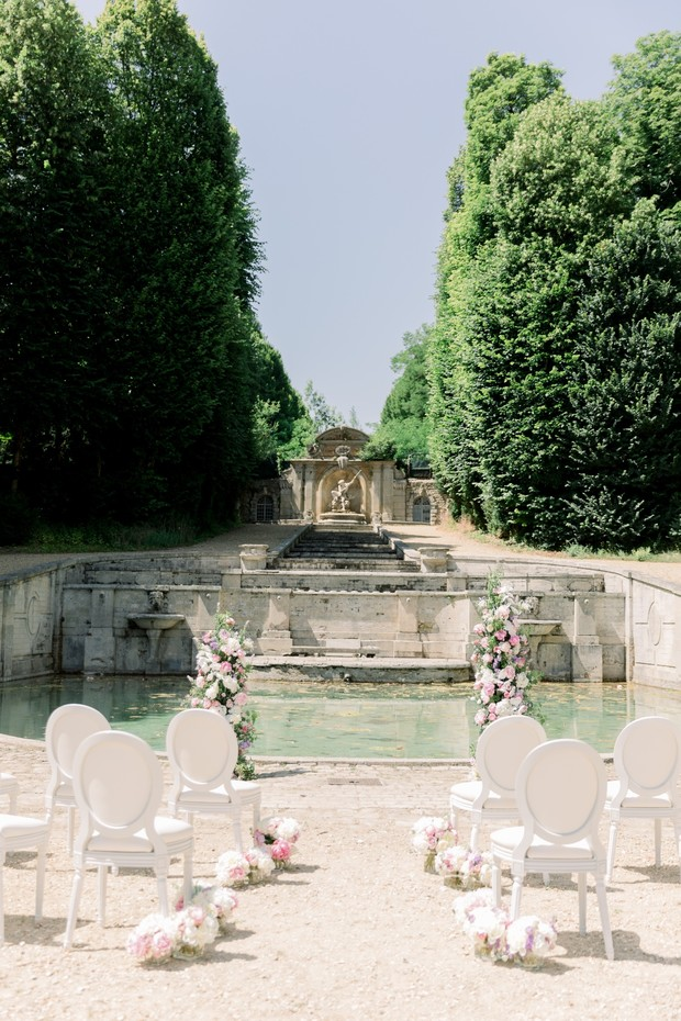 Outdoor ceremony at Chateau de Villette