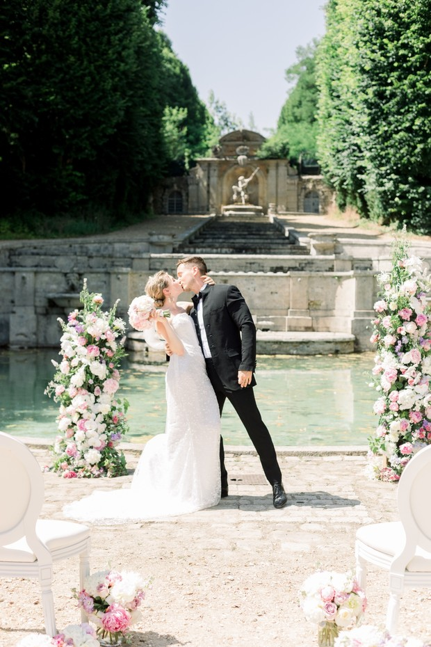 Just married at a French Chateau
