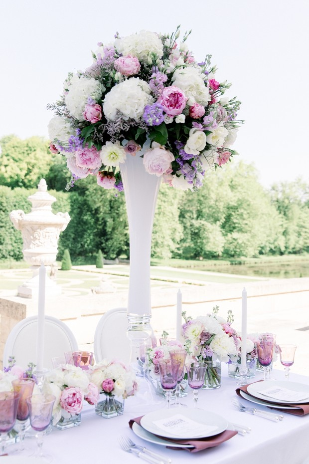 tall floral wedding centerpiece