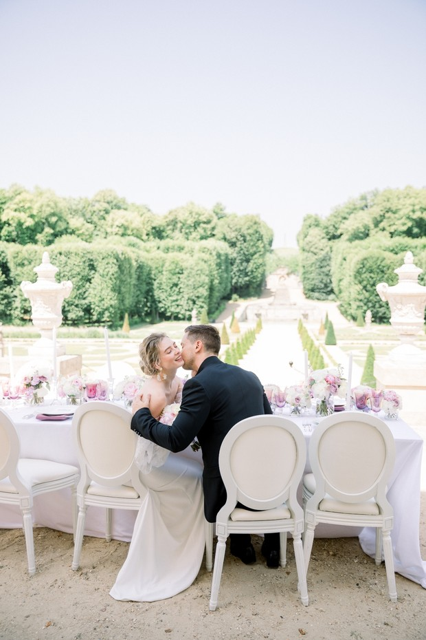Purple + cream wedding inspiration at Chateau de Villette