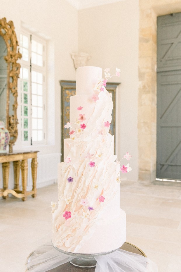 Spring wedding cake design