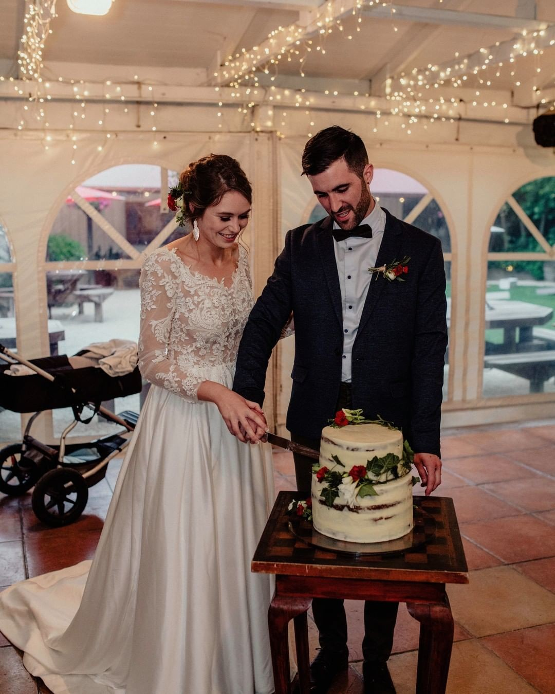 From the first step down the aisle all the way to the cake cutting, we'll have you looking flawless...just like our bride Jessica in