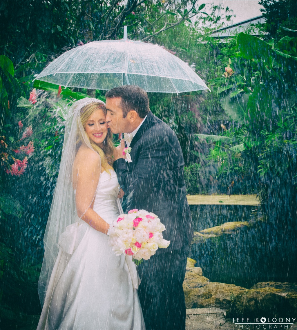A very wet wedding in South Florida,