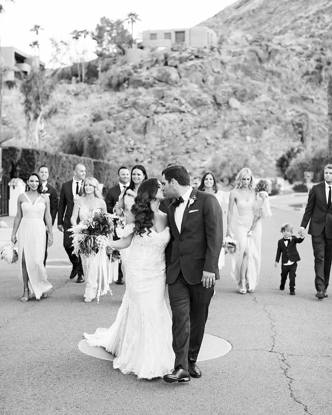 When two truly beautiful people inside and out get married and have an amazing Palm Springs affair, that's the best :)