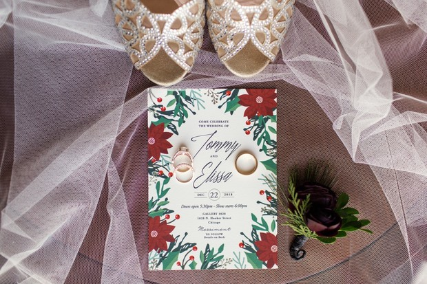 wedding invitation for the holidays
