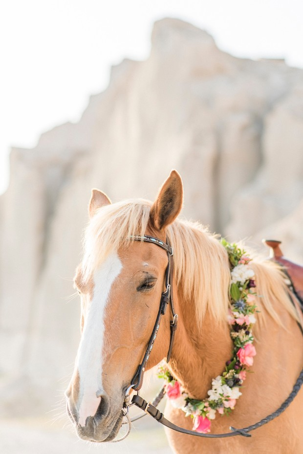 wedding horse florals
