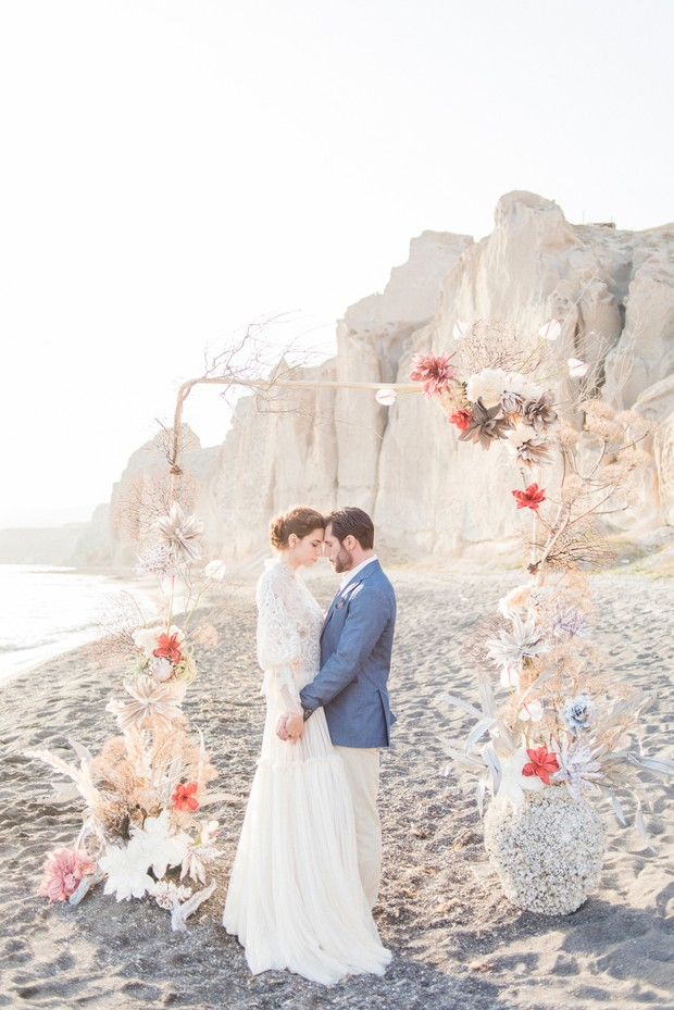 ceremony backdrop for a beach wedding