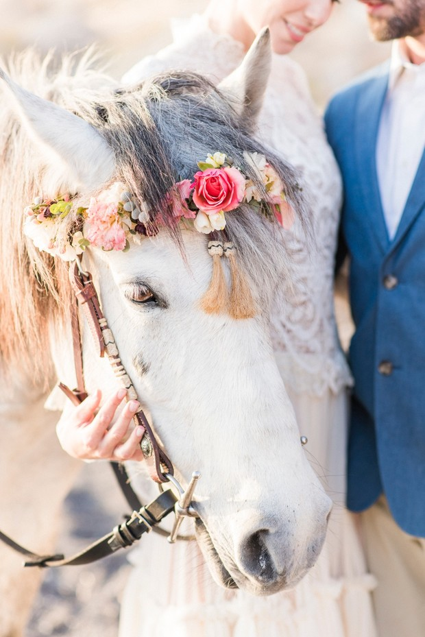 horse floral crown