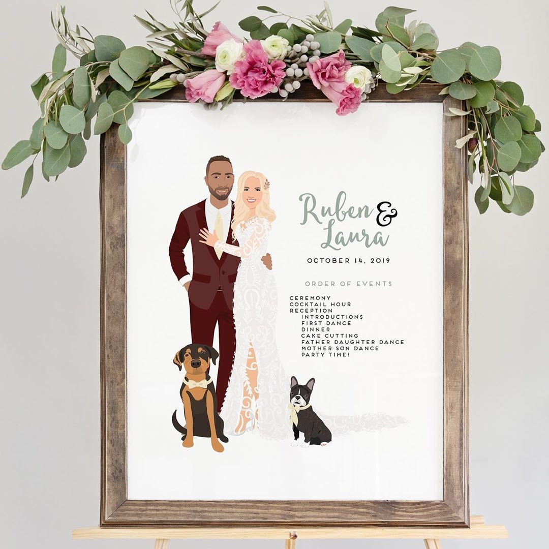 Here's a handy little way to tell your guests what to expect from your big day, while also giving them something absolutely stunning