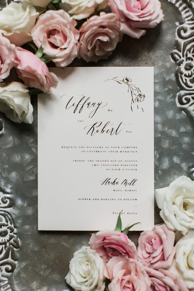 calligraphy wedding invitation idea