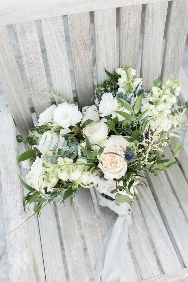 ivory and white wedding bouquet
