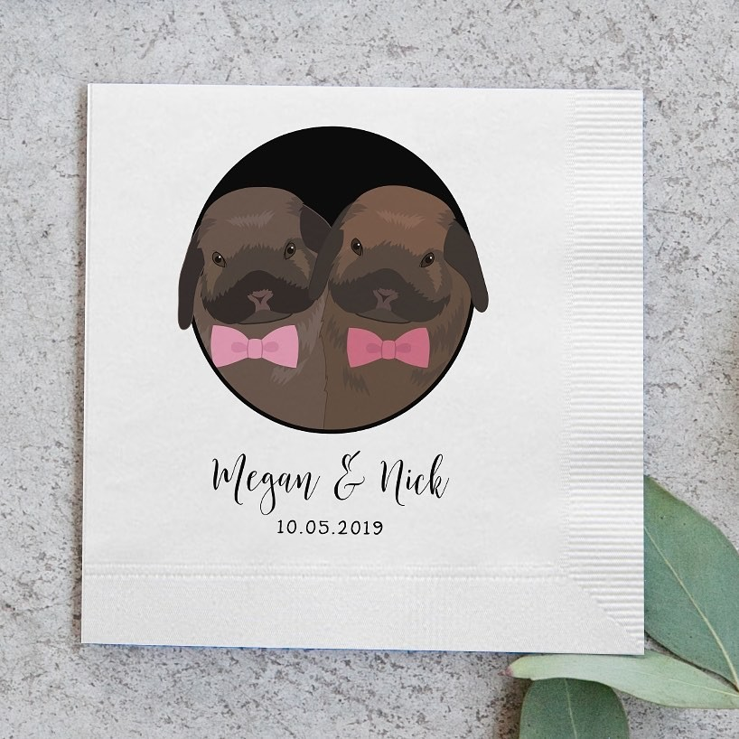 ⁠These dapper little bunnies were the perfect addition to Megan and Nick's family, which is why they just HAD to include them on