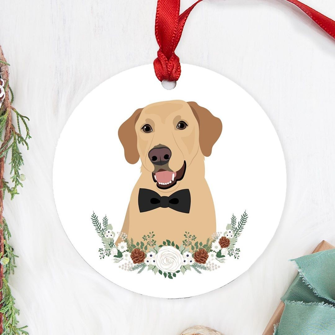 You've already got a star at the top of your tree. Why not make your pet the true star of the tree and add a custom ornament with