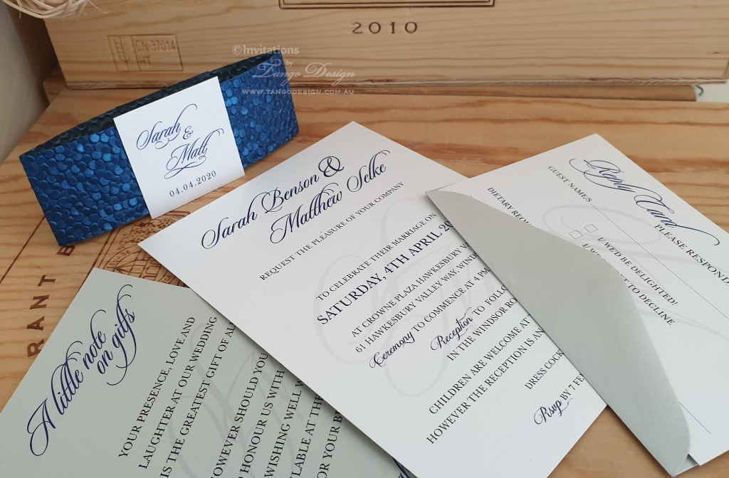 custom wedding invitation set, affordable and practical