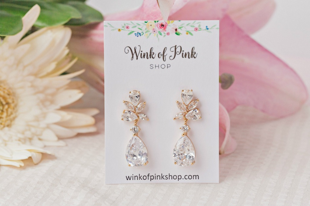The Charlotte bridesmaid earrings are the perfect accessory for your squad on your big day!