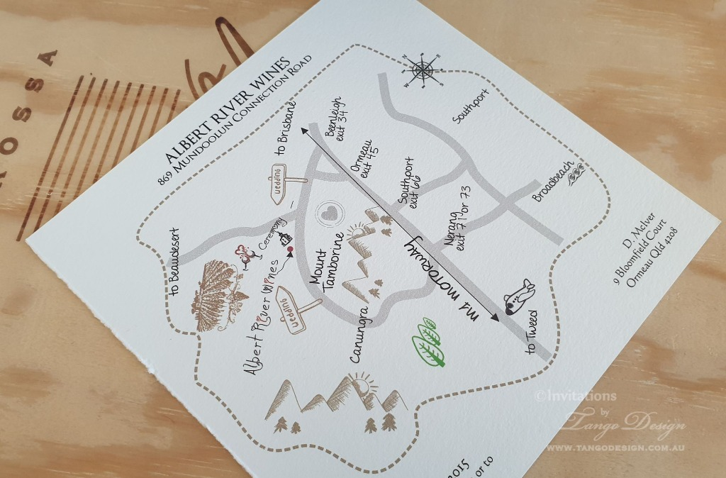 Weddings maps by hand