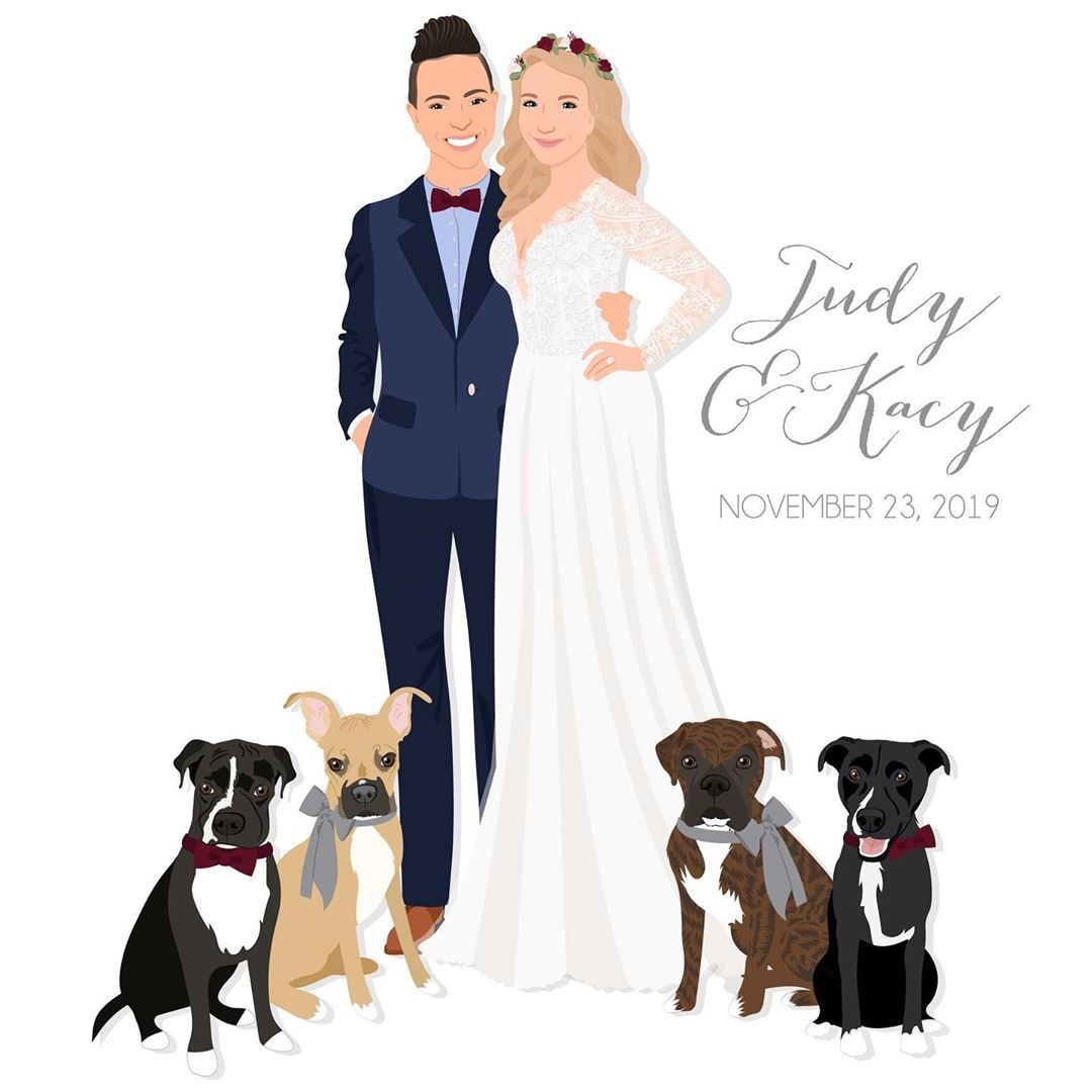 Give a big congrats to Judy and Kacy, who are tying the knot TODAY! 🎉 We just had to celebrate by sharing their beautiful custom
