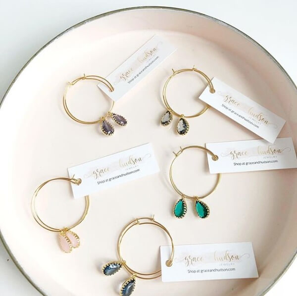 Bridal jewelry from Grace + Hudson