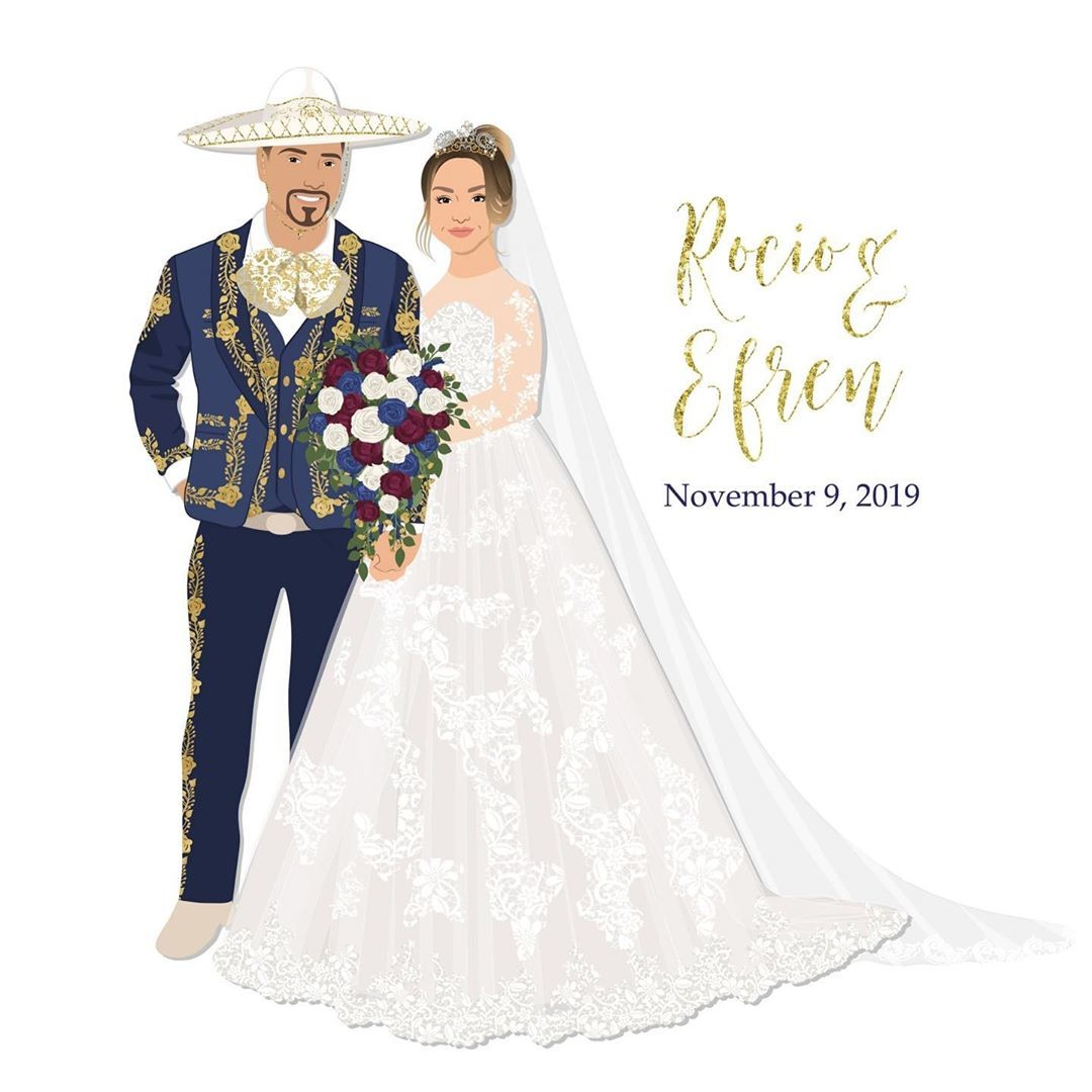 How absolutely STUNNING is this custom design?? 😍 The couple wanted to incorporate their Mexican heritage, and they even had unique