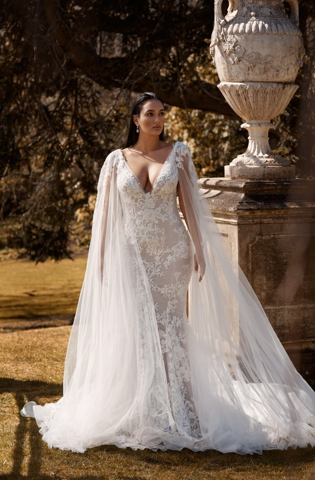 Lace wedding gown from Leah Da Gloria