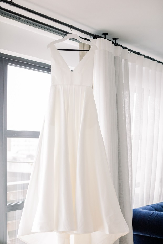 simple and chic bridal gown