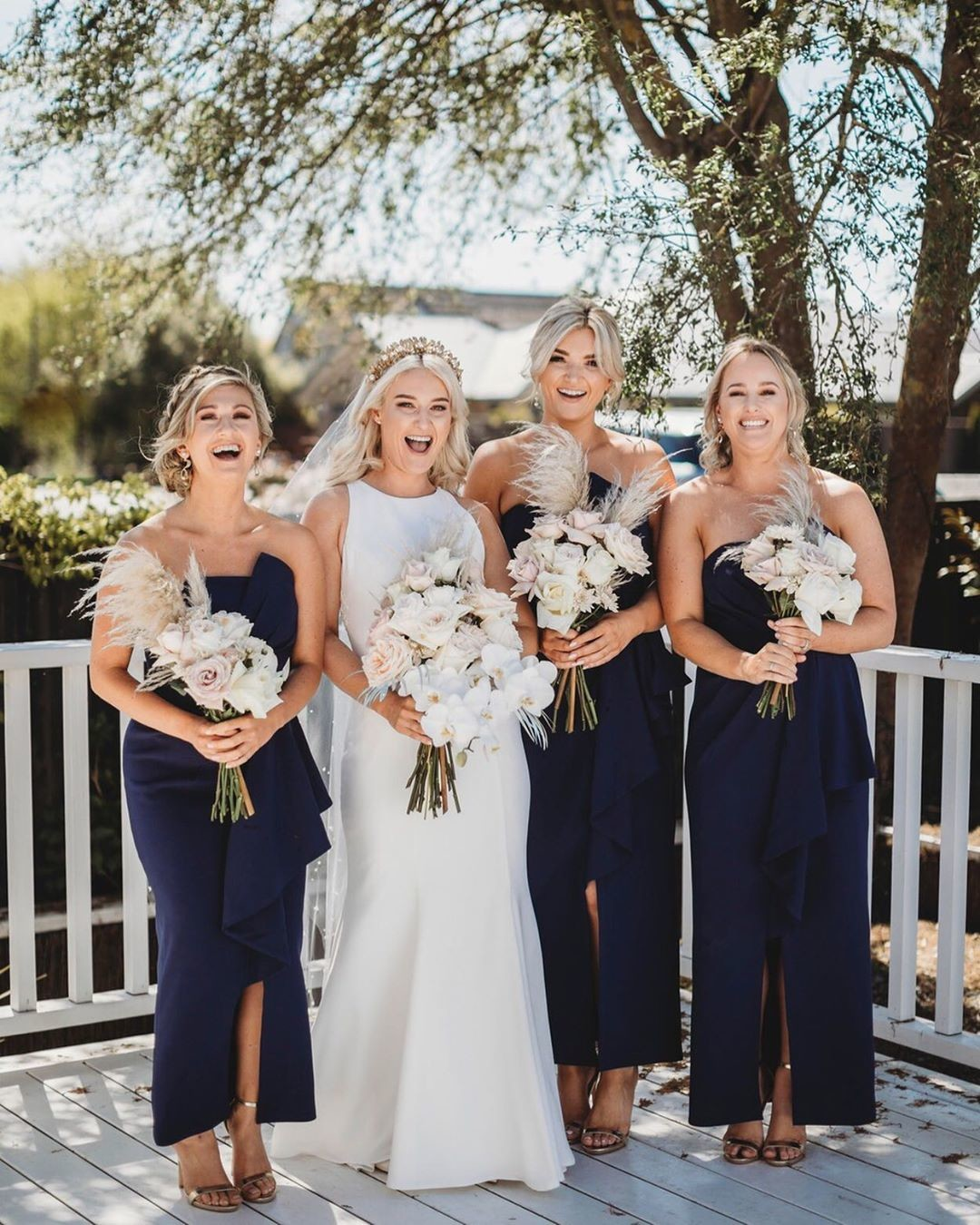 Nicola's beautiful #bridesmaids in our Stellina