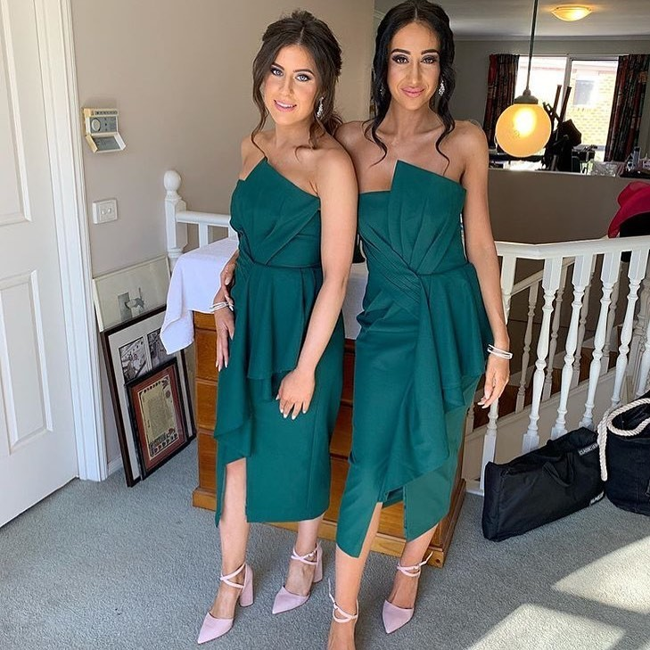 Gorgeous girls in our Stellina Midi 💚 make up by @stefbond_makeup