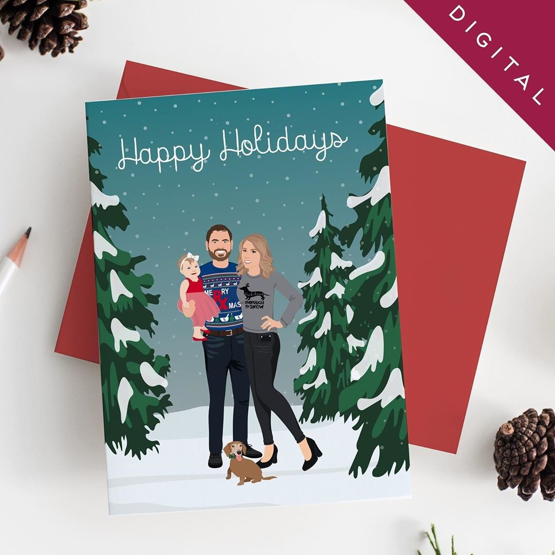 ⁠If you're worried you won't have time to order custom holiday cards, we offer digital options as well! 📧 These are always great