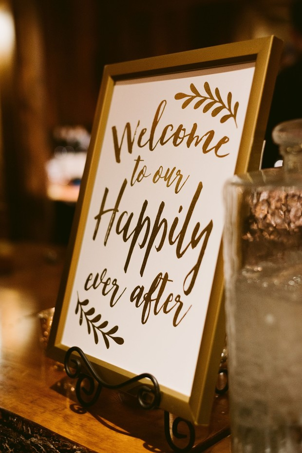 welcome to your happily ever after wedding sign