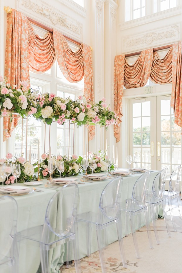 French Chateau springtime wedding ideas