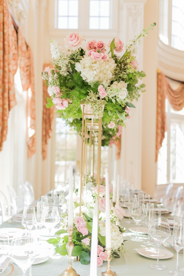 elevated floral centerpieces