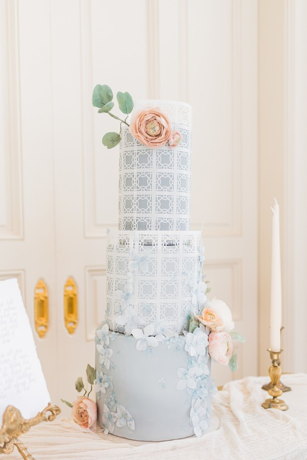 decorative french style wedding cake