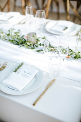 Back To The Basics White And Gold Chic Wedding