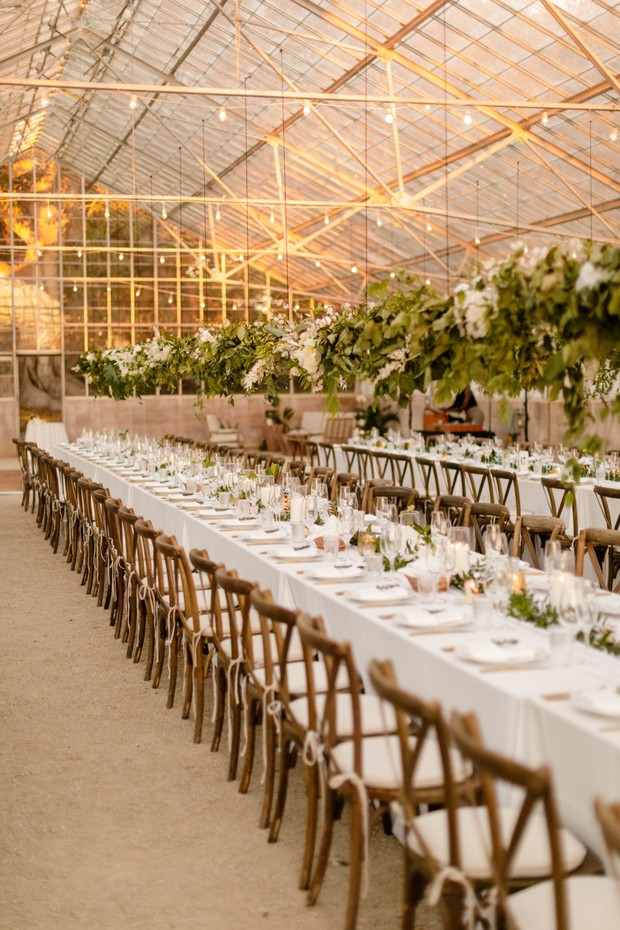 family feast style wedding tables for your reception
