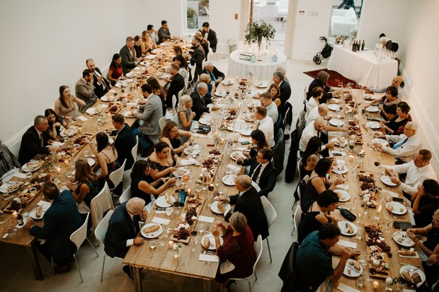 dinner party for your wedding guests