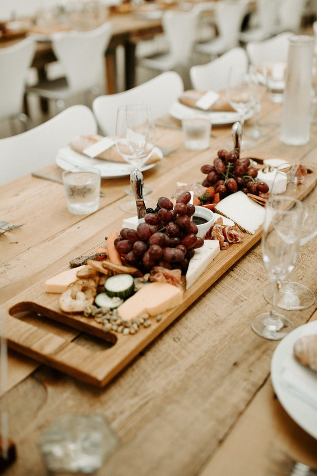 charcuterie board wedding table centerpiece