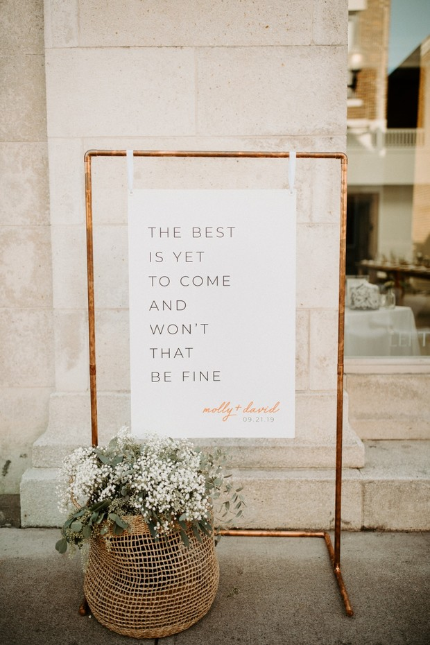 the best is yet to come wedding sign