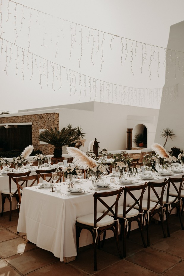 organic wedding reception design